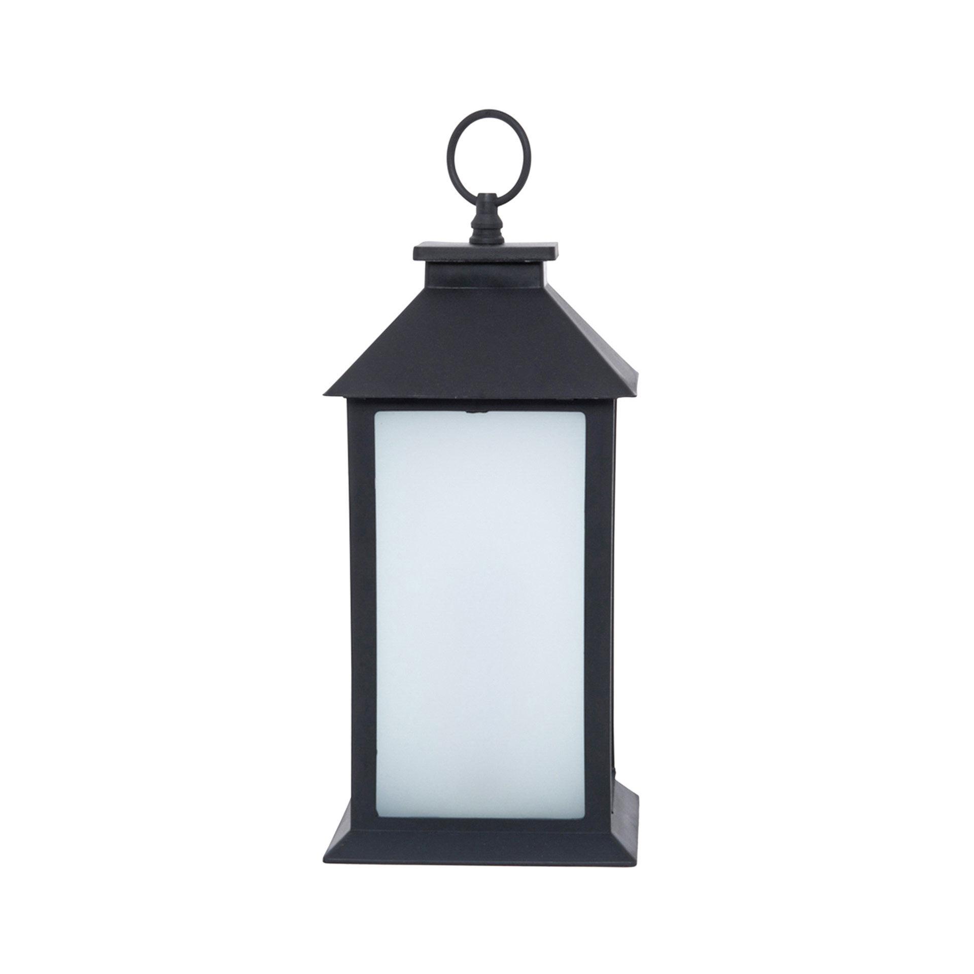 Lanterne à piles avec lumière clignotante - dim. 14 X 35 X 14 cm, , large