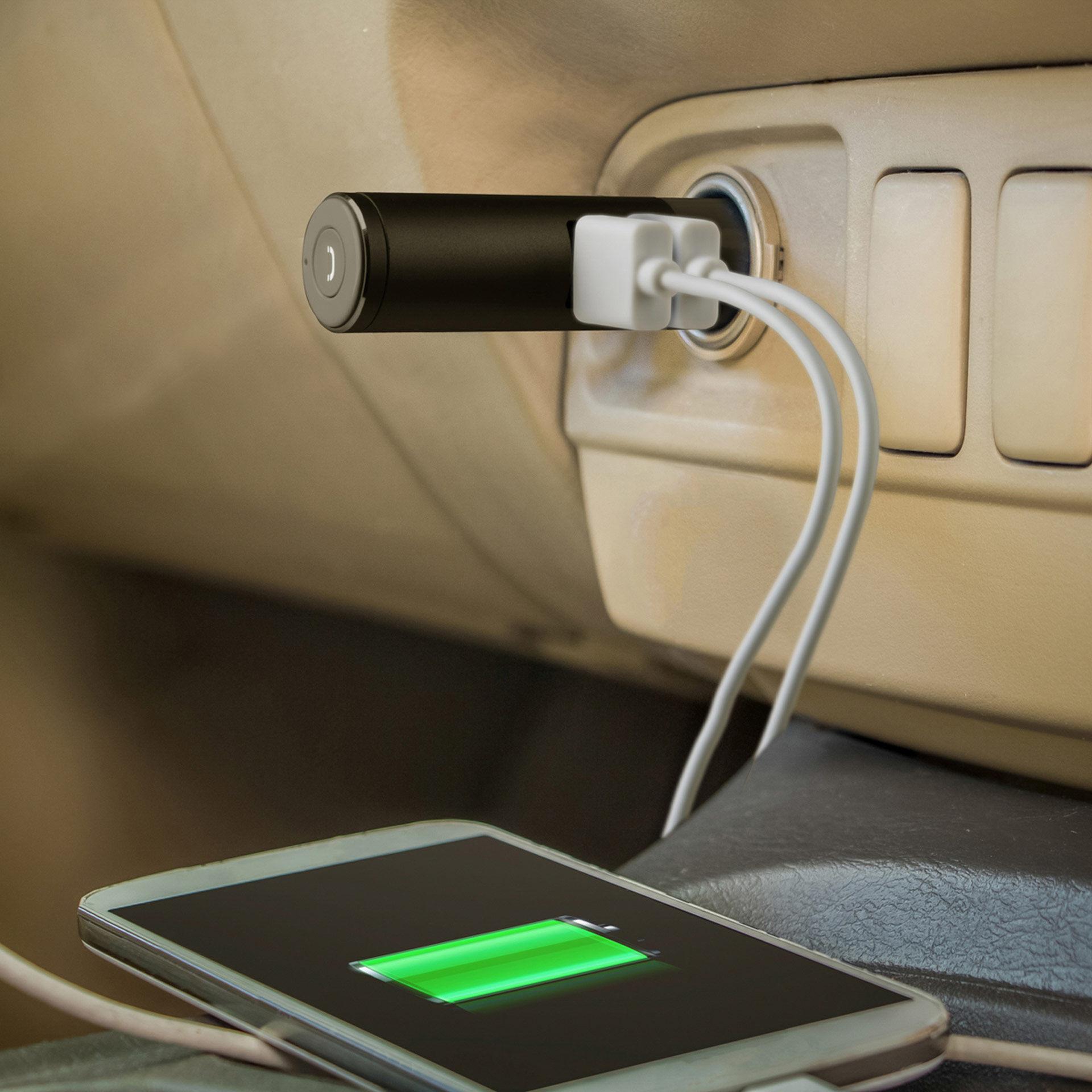 Chargeur de voiture 2 USB avec casque Bluetooth, , large