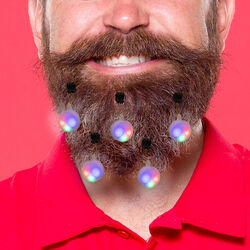 Decorazioni luminose per barba set da 9 pz, , large