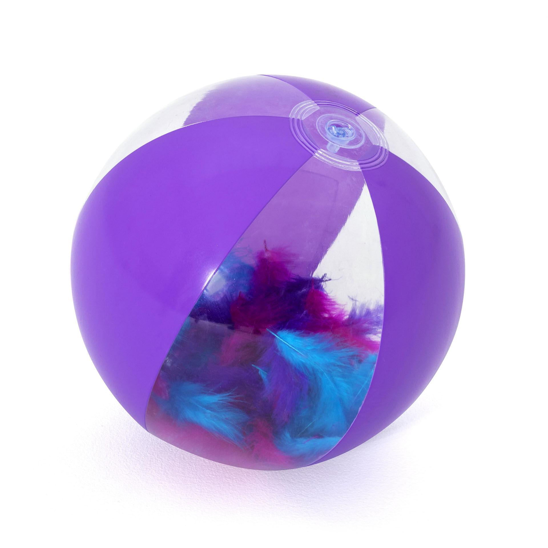 Ballon de plage - Plumes, , large