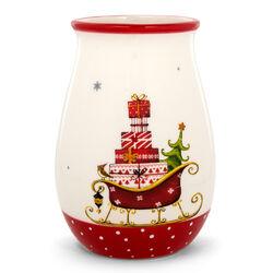 Portamestoli con decorazioni natalizie, , large