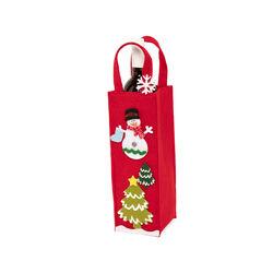 Borsa porta bottiglia natalizia - rosso, rosso, large