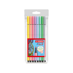 Stabilo Pen set da 8 pennarelli in colore pastello, , large
