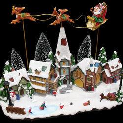 Paesaggio natalizio con luci e movimento, , large