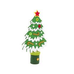 Mini abete natalizio in feltro - verde scuro, verde scuro, large