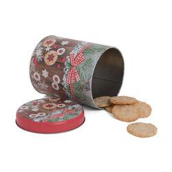 Barattolo in latta natalizio per biscotti, , large