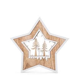 Decorazione in legno a forma di stella, , large