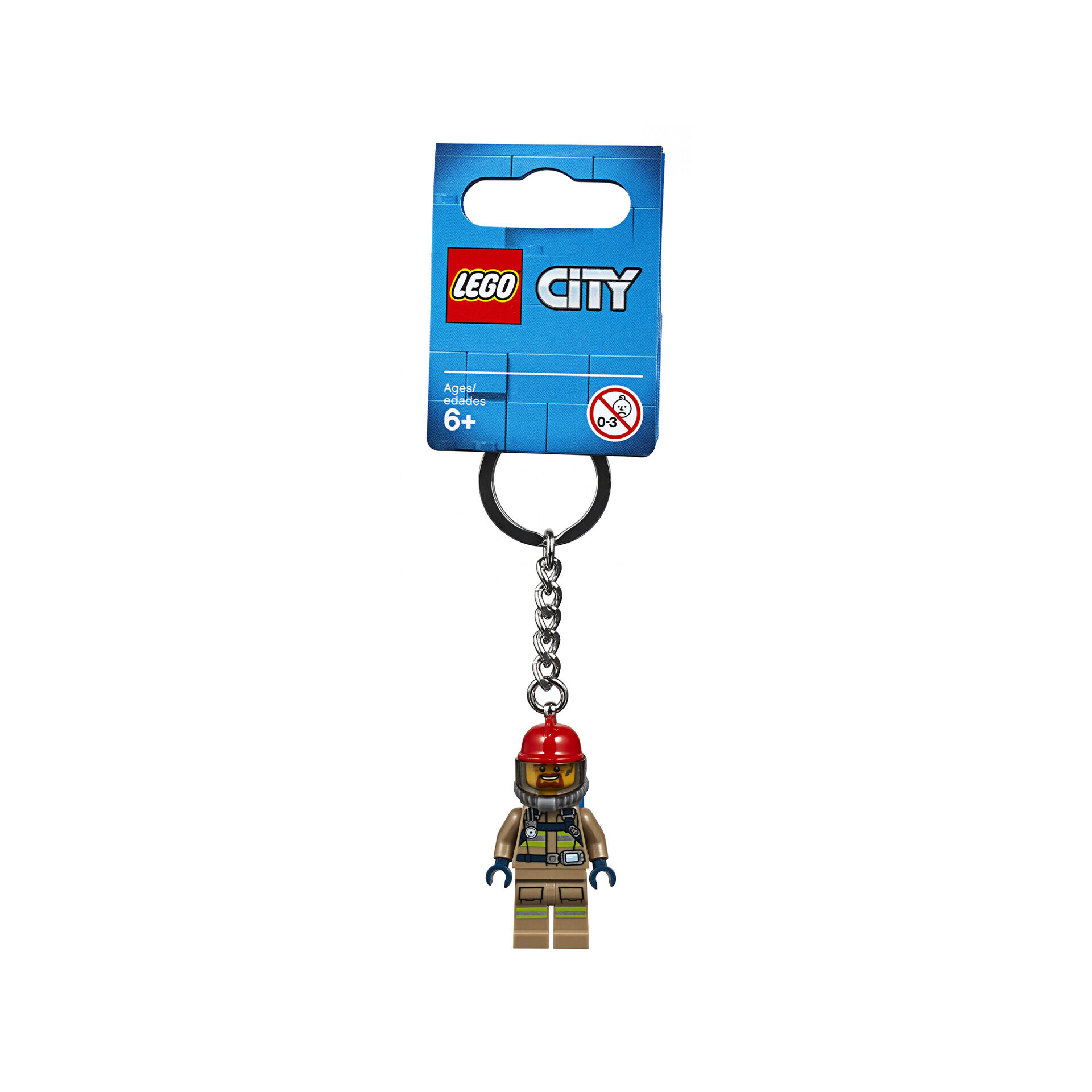 Porte-clés pompier City 853918, , large