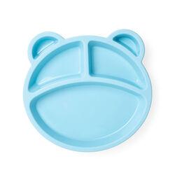 Piatto con divisori in silicone per bambini, colore celeste, celeste, large