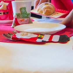 Set 4 portaposate Babbo Natale, , large