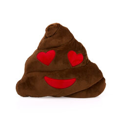 Cuscino emoticon puu occhi a cuore, , large