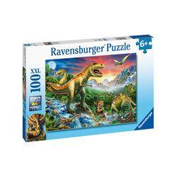 Ravensburger Puzzle 100 pezzi 10665 - L'era dei dinosauri, , large