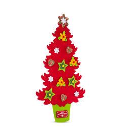 Albero di Natale in feltro da appendere 73 cm - rosso, rosso, large