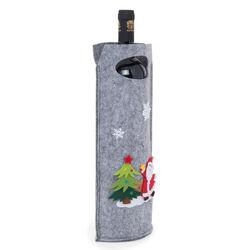 Portabottiglie natalizio in feltro, , large