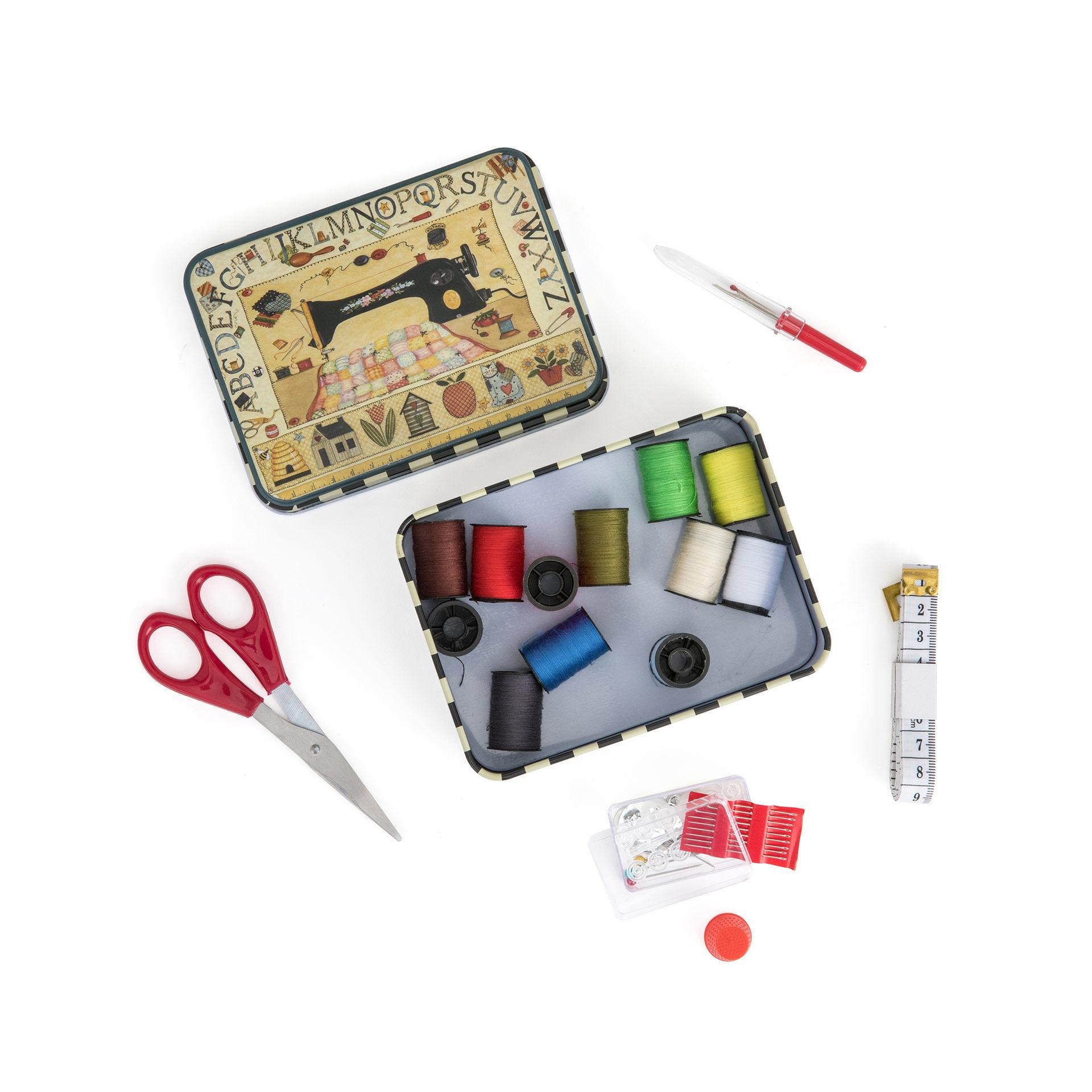 Boîte métallique avec kit de couture, , large