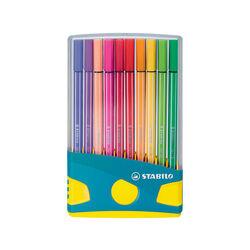 STABILO Pen 68 Colorparade in Turchese - Astuccio da 20 - Coloriassortiti, , large