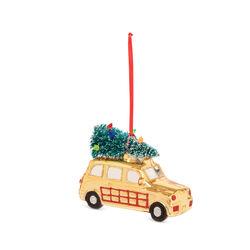 Decorazione natalizia auto in vetro - oro, oro, large