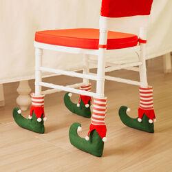 Set 4 calzini natalizi per sedia, , large