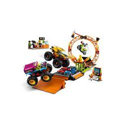LEGO City Stuntz Arena dello Stunt Show, Set con 2 Monster Truck Giocattolo, 2 A 60295, , large