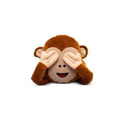 Cuscino emoticon scimmietta, , large