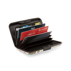 Porta carte di credito fantasia gufi, , large