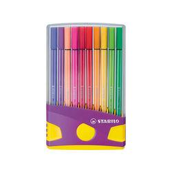 STABILO Pen 68 Colorparade in Lilla - Astuccio da 20 - Coloriassortiti, , large