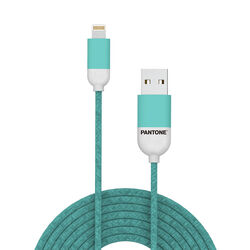Cavo dati USB Lightning linea Pantone - verde petrolio, verde, large
