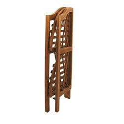 Angoliera pieghevole in legno con 2 ripiani, , large