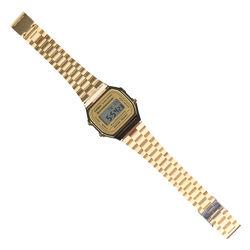 Orologio digitale Casio in metallo dorato con display retroilluminato, , large