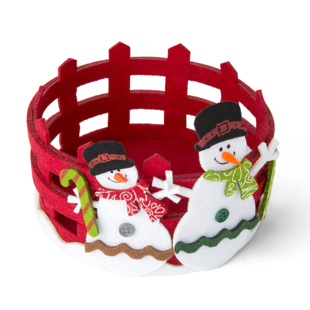 Panier rond de Noël - Couleur rouge, rouge, large