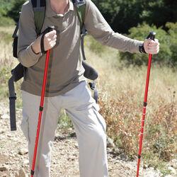Set 2 bastoni estensibili da trekking, , large