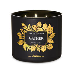 Gather Candela profumata decorativa 3 stoppini con oli essenziali, , large