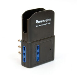 Presa multipla con porta USB e base di appoggio per cellulare, , large