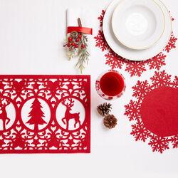 Runner natalizio in feltro da tavolo, , large