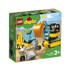 LEGO Duplo Camion e scavatore cingolato 10931, , large
