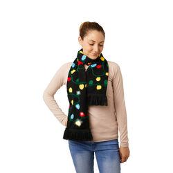 Sciarpa natalizia con luci LED, lampadine, , large
