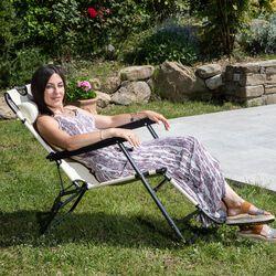 Sedia sdraio reclinabile pieghevole, , large