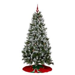 Puntale per albero di Natale - Colore rosso/bianco, , large