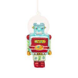 Decorazione in vetro Robot con casco, , large