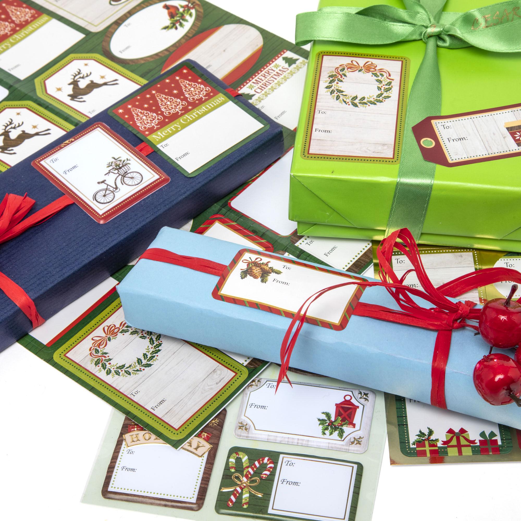 Étiquettes adhésives de Noël - Lot de 23 pcs, , large