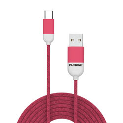 Cavo dati USB Type - C linea Pantone, rosa, rosa, large