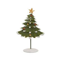 Albero di Natale in metallo da scrivania H 21 cm, , large