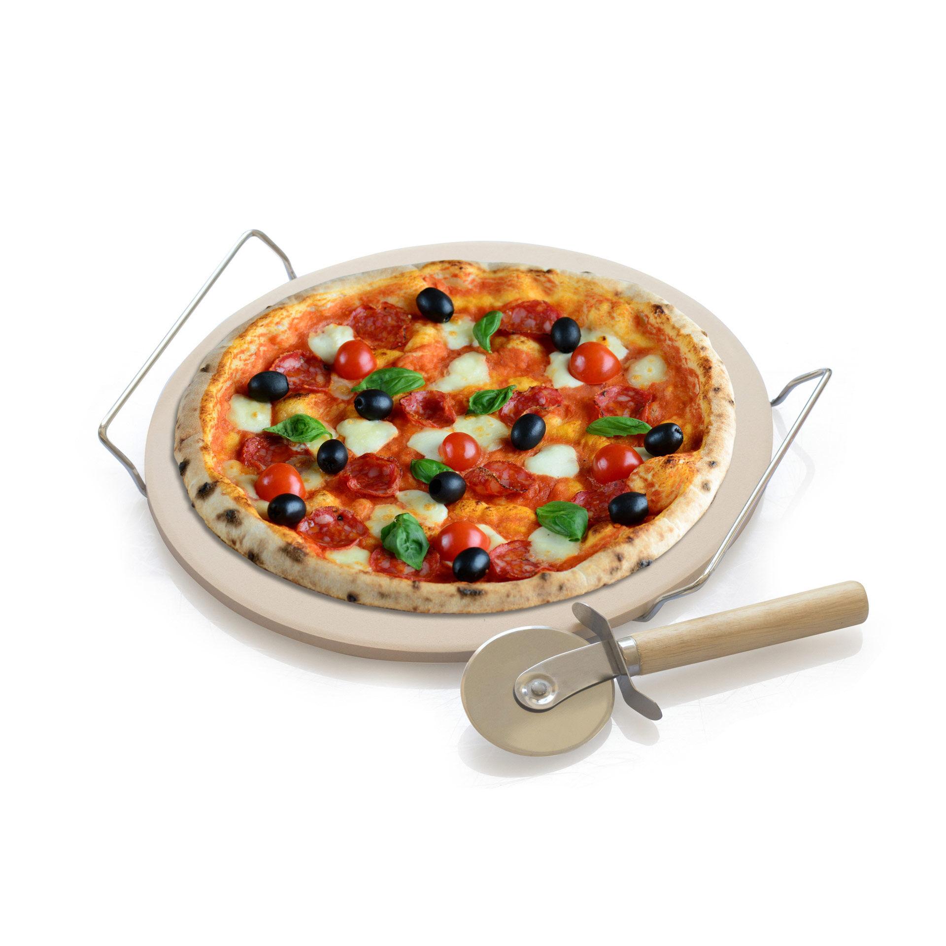 Pierre réfractaire pour la cuisson des pizzas, , large