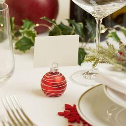 Segnaposto natalizi - Set da 6 pz, rosse, rosso, large