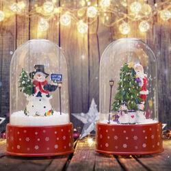 Campana musicale natalizia con neve, , large
