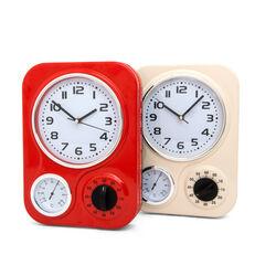 Orologio da parete con termometro, , large