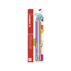 Matita in grafite - STABILO Pencil 160 - con gommino - Pack da 3  Gradazione HB, , large