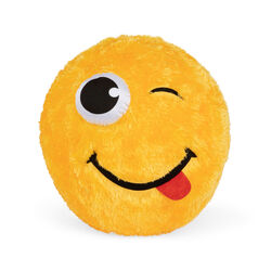 Maxi palla emoticon gialla 50 cm, , large