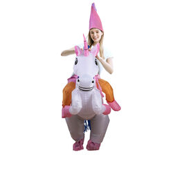 Costume gonfiabile unicorno per adulti, , large