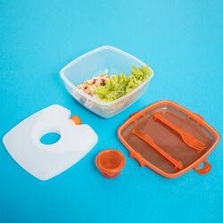 Contenitore lunch box per microonde - colore arancio, arancione, large